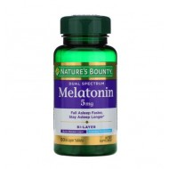 NATURES BOUNTY MELATONIN 5 MG BILAYER 60 tablets